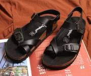 Giày xỏ ngón đế trấu - Lót đen Nam Nữ - Depkool