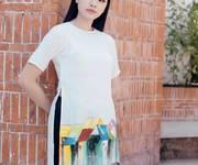 Áo dài vẽ tay thiết kế Đà Nẵng
