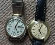 5 Bán đồng hồ cổ Slava 2 lịch số học trò bọc vàng, size to trên 38.