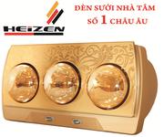 4 Đèn sưởi nhà tắm Heizen 3 bóng HE3BR - công nghệ Đức