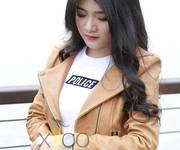 1 Áo Da Thật Dáng Cổ Vạt Chéo Màu Vàng AD003 - XylooStore
