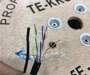 1 Cáp mạng chạy ngoài trời có sợi thép cường lực Cat5E CCA  hợp kim  hãng TE-krone