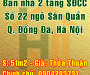 Bán nhà số 22 ngõ Sân Quần, Phường Khâm Thiên, Quận Đống Đa, Hà Nội