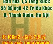 Bán nhà Quận Thanh Xuân, Số 88 ngõ 42 Phố Triều Khúc