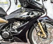 1 Tem xe Winner X thiết kế đen bóng vàng bạc do Decal46 thực hiện