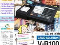Máy tính tiền Casio VR100 cho quán cà phê phong cách Nhật Bản