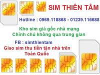 Sim Viettel mới xuất kho giá gốc tại Thiên Tâm