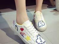 Giày sneaker nữ thêu hình Mã: GC0221 - VÀNG