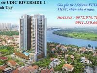 Bán căn góc B4  64,42m2  tầng thấp Chung cư Udic 122 Vĩnh Tuy, full nội thất, nhận nhà...