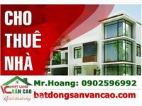 Cho thuê nhà 2 tầng mặt đường Cát Dài, Hồ Nam, Lê Chân, .