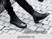 Giày nam cổ cao full màu đen sneaker nam full all black siêu đẹp