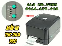 Máy in tem mã vạch TSC 244 Pro giá mềm