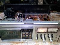 Đầu câm Cassette Teac FF-50 Japan, nguồn khủng, 2 VU rời, điện vào, bật ko chạy