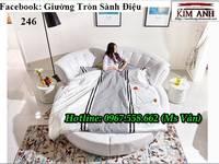 Xưởng sản xuất giường tròn công trình nhà nghỉ khách sạn đẹp giá rẻ
