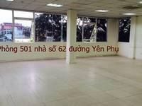 Chính chủ cho thuê VP 50m2 tại đường Yên Phụ