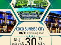 Đất nền dự án Ccco Sunrise city nhận giữ chỗ chỉ 30 triệu/ nền