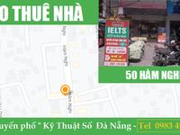 Cho thuê nhà mặt tiền Địa chỉ: 50 Hàm Nghi, phường Thạc Gián, quận Thanh Khê