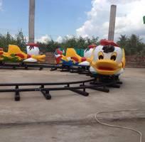 2 Xe lửa điện tàu điện trẻ em xe lửa con vịt xe lửa nấm khu vui chơi