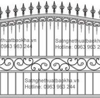 5 Hàng rào sắt bảo vệ đẹp,an toàn.