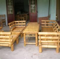 1 Bàn ghế tre dùng trong nhà vườn