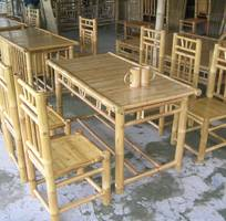 3 Bàn ghế tre dùng trong nhà vườn