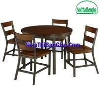 4 Các mẫu bàn ghế chân sắt mặt gỗ đẹp
