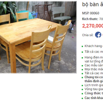 Bộ bàn ăn gỗ ăn tự nhiến