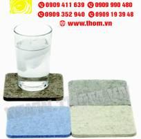3 Xưởng sản xuất lót ly vải nỷ, lót ly giấy, lót ly nhựa PVC giá rẻ...
