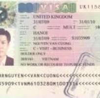 Visa du lịch   công tác Anh