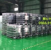 1 Tank IBC 1000 lít màu đen đựng hóa chất,IBC màu đen 1000 lít