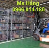 3 Lồng trữ hàng container,lồng lưới thép,pallet lưới giá rẻ