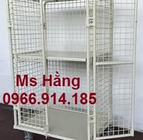 4 Lồng trữ hàng container,lồng lưới thép,pallet lưới giá rẻ