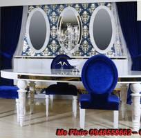13 Xưởng bán bàn ăn tân cổ điển giá rẻ tại quận 2, q7 - Bộ bàn ăn cổ điển phong cách Châu Âu đẹp