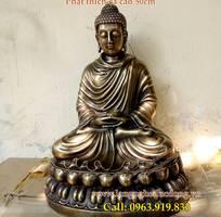 Tượng phật Thích Ca cao 50cm, tượng đồng thờ cúng, tượng thích ca bằng đồng vàng