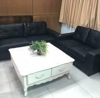 Bộ bàn ghế sofa da thật cao cấp xuất khẫu mỹ