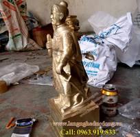 1 Tượng Trần Hưng Đạo, Đức Thánh Trần bằng đồng vàng 42cm