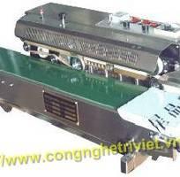 2 Đóng gói sản phẩm bằng máy hàn liên tục FRM-980W / máy hàn túi nhựa liên tục có in hạn sử dụng