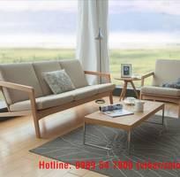 7 Sofa gỗ sồi , sofa gỗ nỉ