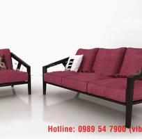 9 Sofa gỗ sồi , sofa gỗ nỉ