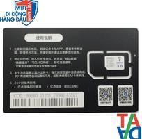 Sim 3G/4G du lịch Trung Quoc -Hongkong-Macao-Đài Loan