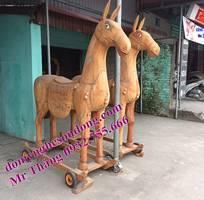 Đồ thờ gỗ cho đình đền: ngựa thờ, hạc thờ, chấp kích binh khí, bát bửu, kiệu long đình,kiệu bát cống