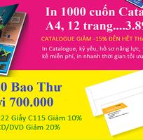 1 In ấn1000 cuốn Catalogue,  3.899.000  1000 tờ rơi, A4, 4 màu, 2 mặt 589.000...Ship Fre