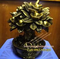2 Cây Tiền Tài Lộc Đồng Vàng Cao 20cm, vật phẩm phong thủy, cây kim tiền phong thủy