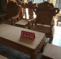 1 Bộ bàn ghế kiểu Louis Pháp gỗ gõ đỏ