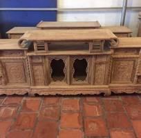 1 Kệ Tivi Kiểu Hàm Ếch gỗ hương vân và hương đá