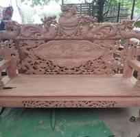 2 Bộ bàn ghế giả cổ nghê khuỳnh gỗ hương đá