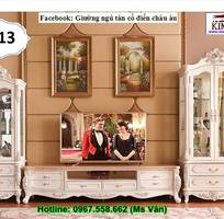 11 Kệ tivi cổ điển châu âu - xưởng làm hàng đặt tủ kệ tivi tân cổ điển đẹp sang chảnh