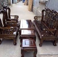 8 Bộ bàn ghế giả cổ minh quốc đào gỗ tràm Tay 10 và Tay 12