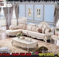 4 Sofa tân cổ điển góc chữ L đẹp, bán giá tại xưởng - Nội thất Kim Anh bảo hành 4 năm