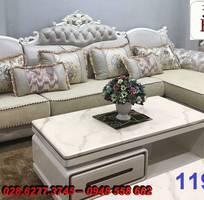 14 Sofa tân cổ điển góc chữ L đẹp, bán giá tại xưởng - Nội thất Kim Anh bảo hành 4 năm